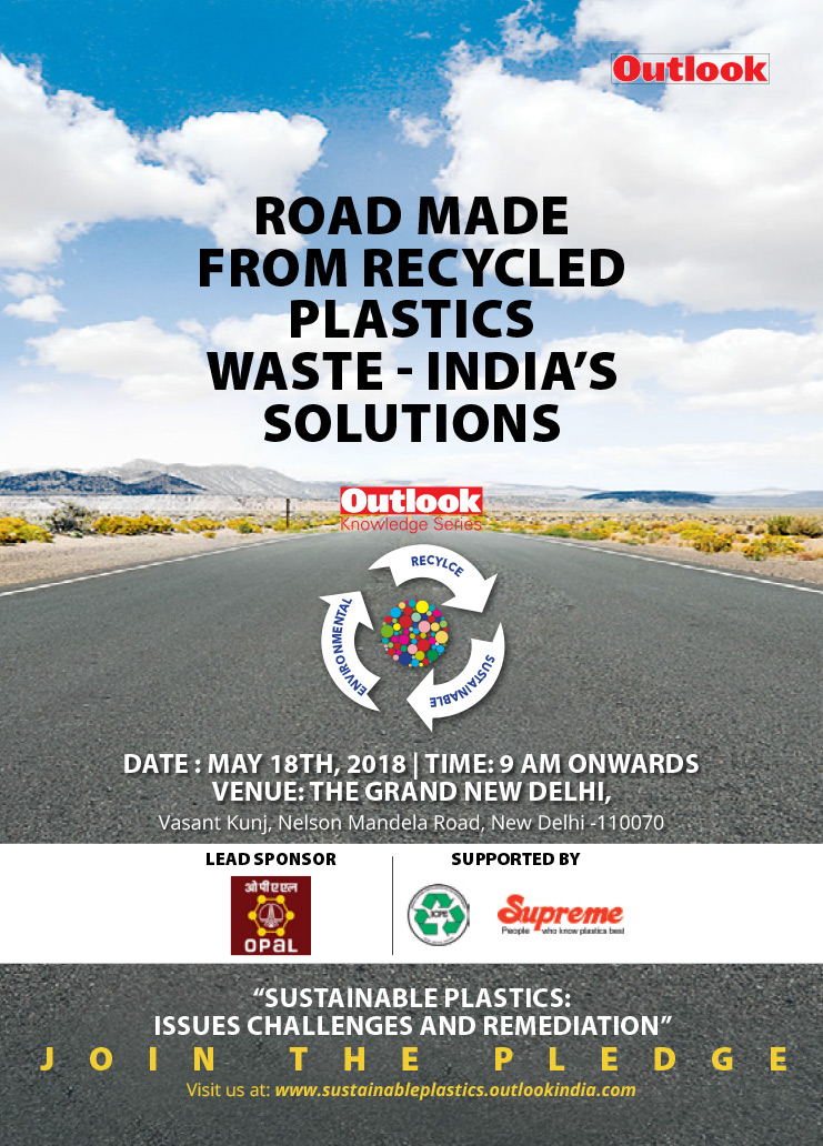 Road Made from Recyle Plastics Waste - India solution